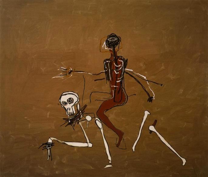 obras Basquiat - cavalgando para a morte