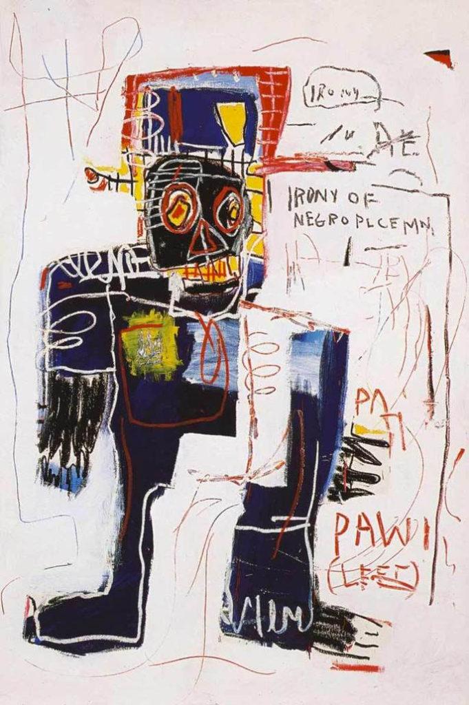 Ironia do Policial Negro - obra de Basquiat